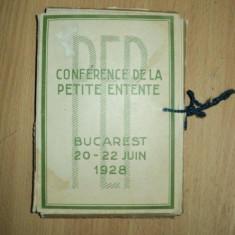 CONFERENCE DE LA PETITE ENTENTE, CONFERINTA MICII ANTANTE, BUCURESTI, 1928 - Carte veche