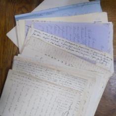 Lot documente si scrisori manuscrise in limba franceza