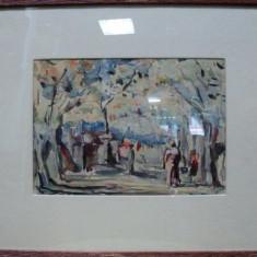 POPESCU ION CRISTIAN PIC PEISAJ IN PARC - Pictor roman