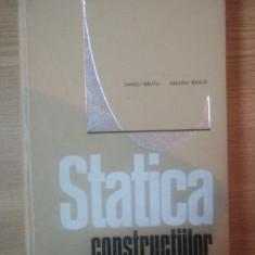STATICA CONSTRUCTIILOR de SANDU RAUTU, VALERIU BANUT - Carti Mecanica