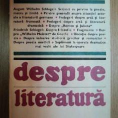 DESPRE LITERATURA-AUGUST WILHELM SI FRIEDRICH SCHLEGEL 1983