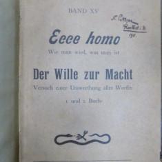 Friederich Nietzsche, Ecce Homo, Leipzig 1911 - Carte veche