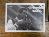 Brosura cu dedicatia lui Gheorghe Zamfir