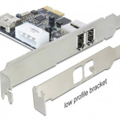 Adaptor PCI Express Delock 2+1 porturi FireWire A Port - Cablu PC