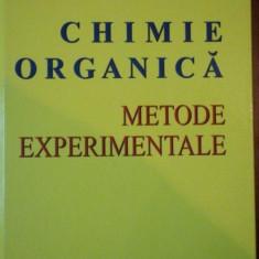 CHIMIE ORGANICA, METODE EXPERIMENTALE de MIRCEA IOVU SI TEODOR OCTAVIAN NICOLESCU - Carte Chimie