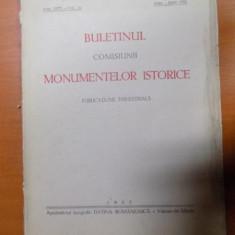 BULETINUL COMISIUNII MONUMENTELOR ISTORICE, PUBLICATIE TRIMESTRIALA, ANUL XXVI, FASCICOLA 76, APRILIE-IUNIE, Bucuresti 1933