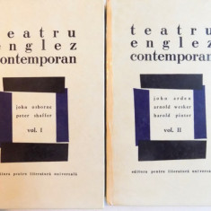 TEATRU ENGLEZ CONTEMPORAN, 2 VOL-JOHN OSBORNE, PETER SHAFFER, BUC.1968 - Carte Teatru