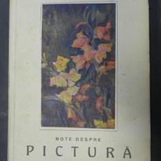 NOTE DESPRE PICTURA de N.N.TONITZA, CU O PREZENTARE DE FR. SIRATO, 1947 - Carte Istoria artei