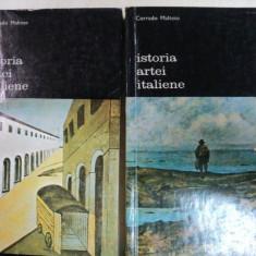 ISTORIA ARTEI ITALIENE- CORRADO MALTESE-BUC. 1976 VOL.I-II - Carte Istoria artei
