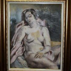 Lucretia Mihail Silion (n. 1895), Nud, verso Studiu - Pictor roman