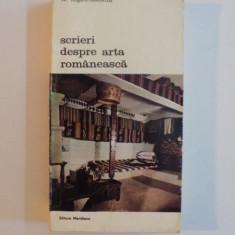 SCRIERI DESPRE ARTA ROMANEASCA-AL.TZIGARA-SAMURCAS, BUCURESTI 1987 - Carte Istoria artei