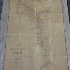 Harta judetului Severin/ scara 1:200000, interbelica