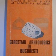 CERCETARILE ARHEOLOGICE IN BUCURESTI, VOL IV, BUCURESTI 1992 - Istorie