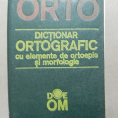 DICTIONAR ORTOGRAFIC CU ELEMENTE DE ORTOEPIE SI MORFOLOGIE CHISINAU 1991 - Carte in alte limbi straine