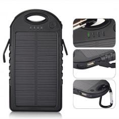 Baterie Externa Power Bank 5000 mah Incarcare Solara Baterie Urgenta C152