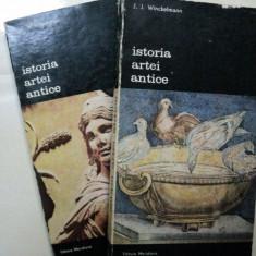 ISTORIA ARTEI ANTICE - J.J. WINCKELMANN -BUC. 1985 VOL.I-II - Carte Istoria artei