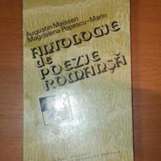 ANTOLOGIE DE POEZIE ROMANSA - AUGUSTIN MAISSEN, MAGDALENA POPESCU-MARIN 1980