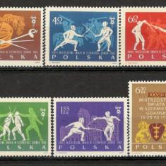 Polonia.1963 C.M. de scrima Gdansk KP.160 - Timbre straine, Nestampilat