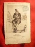 Ilustrata Vechi costume normande - Calvados circulat 1905