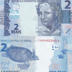 Brazilia 2 Reais 2010 UNC - bancnota america