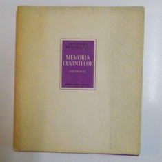 MEMORIA CUVINTELOR, VERSURI de VERONICA PORUMBACU, 1963 - Roman