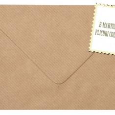 Plic/plicuri colorate invitatii/felicitare. Plicuri maro vintage 82 x 113 mm EM082MARO