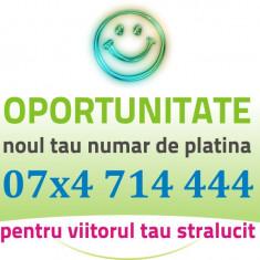 VIP PLATINA - 07x4.714.444 Numar cartela frumos aur gold usor special numere