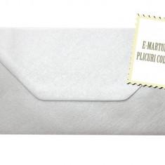 Plic DL/Plicuri DL colorate invitatii nunta/felicitare. Plicuri argintii 110x220(DL)mm EM110ARG