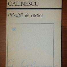 PRINCIPII DE ESTETICA- GEORGE CALINESCU