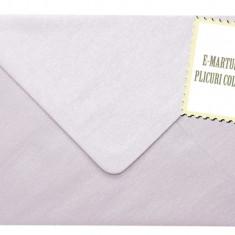 Plicuri colorate invitatii / felicitare. Plicuri lila sidef 125x175 mm EM125LS