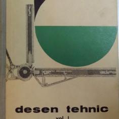 DESEN TEHNIC . VOL I . MANUAL PENTRU SCOLI PROFESIONALE de P . PRECUPETU , GH NICOARA , C I GEORGESCU , 1963