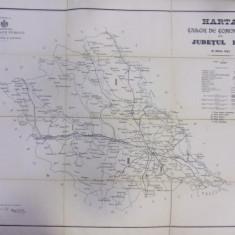 HARTA CAILOR DE COMUNICATIE DIN JUDETUL IASI IN ANUL 1903 - Harta Romaniei