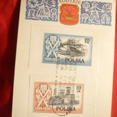 Carton special cu 0,1 si 1,55 zloti nedant. ,stamp. spec. Camp.Europene basket