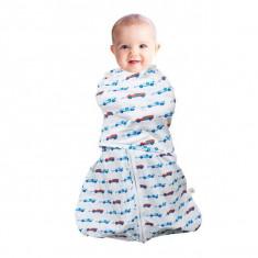 Sistem de infasare pentru bebelusi 3 in 1 blue 0-3 luni Clevamama - Masa de infasat copii