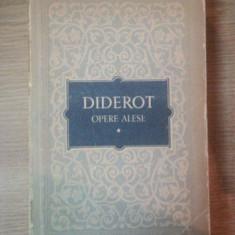 OPERE ALESE VOL. I de DIDEROT, Bucuresti 1956 - Roman
