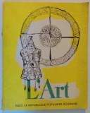 L'ART DANS LA REPUBLIQUE POPULAIRE ROUMANIE , 1957