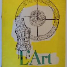 L'ART DANS LA REPUBLIQUE POPULAIRE ROUMANIE, 1957 - Carte Istoria artei
