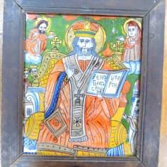 Icoana pe sticla, sf. sec. XIX - Pictor roman