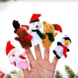 5 Mascote craciun mascote papusi degete mascote degete jucarii autism logoped - Figurina Animale