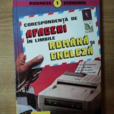 CORESPONDENTA DE AFACERI IN LIMBILE ROMANE SI ENGLEZA de ADRIANA CHIRIACESCU, ALEXANDER HOLLINGER .. - Carte Marketing