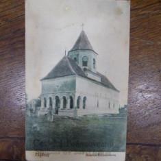 Biserica Brancoveanu, Fagaras, carte postala ilustrata adresata pictoritei Ecaterina Cristescu Delighioz - Harta Europei