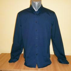 Camasa barbati superslim Zara, mar L, stare foarte buna!, Marime: L, Culoare: Bleumarin