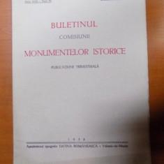BULETINUL COMISIUNII MONUMENTELOR ISTORICE, PUBLICATIE TRIMESTRIALA, ANUL XXXI, FASCICOLA 95, IANUARIE-MARTIE, Bucuresti 1938