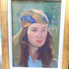 Femeie cu basma colorata, Perioada interbelica - Pictor roman