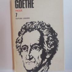 OPERE, VOL. VII PROZA de GOETHE, 1988 - Roman