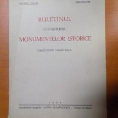 BULETINUL COMISIUNII MONUMENTELOR ISTORICE, PUBLICATIE TRIMESTRIALA, ANUL XXXI, FASCICOLA 96, APRILIE-IUNIE, Bucuresti 1938