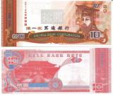 }}}  CHINA , HELLNOTE  -  10  DOLARI  ,  HBC - 1688888  / CEA  DIN SCAN