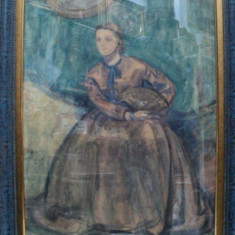RODICA MANIU, TANARA CU EVANTAI - Pictor roman