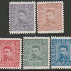1912 Set 5 vignete Ion I.C. Bratianu, presedinte PNL, politician, prim-ministru