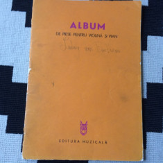 Album de piese pentru violina si pian editura muzicala partituri muzica clasica - Partitura